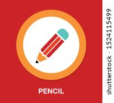 pen  pencil icon  colored... | Shutterstock .eps vector #1524115499