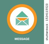 message icon  envelope... | Shutterstock .eps vector #1524115523