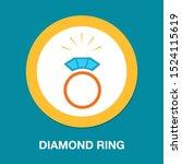 vector diamond ring   wedding...   Shutterstock .eps vector #1524115619