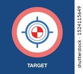 goal  target icon  arrow ...   Shutterstock .eps vector #1524115649