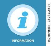 information icon  data info ... | Shutterstock .eps vector #1524115679
