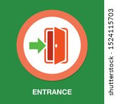 emergency exit sign  exit door... | Shutterstock .eps vector #1524115703