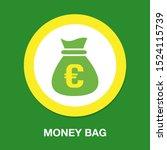 euro money bag   currency... | Shutterstock .eps vector #1524115739