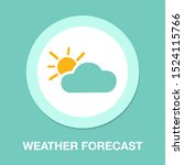weather forecast icon  seasons... | Shutterstock .eps vector #1524115766
