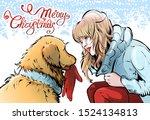 Joyful Christmas Illustration...
