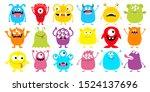 monster colorful silhouette...   Shutterstock .eps vector #1524137696