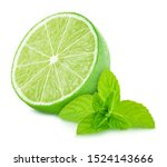 Composition with lime and mint...