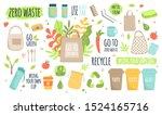 zero waste recycle ecology... | Shutterstock .eps vector #1524165716