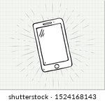 hand drawn of smart phone on...   Shutterstock .eps vector #1524168143