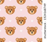 cute seamless pattern with... | Shutterstock .eps vector #1524168749
