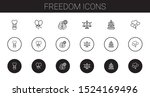 freedom icons set. collection... | Shutterstock .eps vector #1524169496
