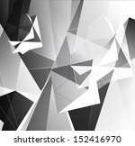 greyscale triangular abstract... | Shutterstock .eps vector #152416970