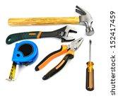 hammer   pliers  wrench ... | Shutterstock . vector #152417459