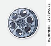 vector illustration. film stock.... | Shutterstock .eps vector #1524190736
