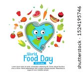 world food day with love... | Shutterstock .eps vector #1524195746