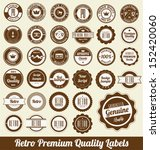 retro premium quality labels | Shutterstock .eps vector #152420060