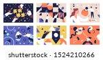 teamwork flat vector... | Shutterstock .eps vector #1524210266