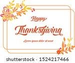 card template of thanksgiving ... | Shutterstock .eps vector #1524217466