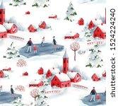 Watercolor Christmas Winter...