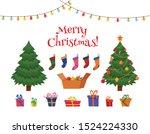 christmas greetings decorative... | Shutterstock .eps vector #1524224330