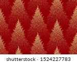 christmas seamless pattern with ... | Shutterstock .eps vector #1524227783
