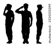 Soldiers Silhouette Vector On...