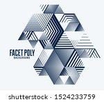 line design 3d cubes and...   Shutterstock .eps vector #1524233759