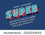 trendy 3d comical font design ... | Shutterstock .eps vector #1524243653