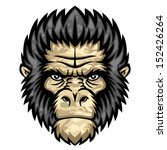 ape head. perfect for paintball ... | Shutterstock . vector #152426264