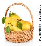 Juicy Pears In Wicker Basket...