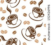 seamless background with coffee ... | Shutterstock .eps vector #152426996