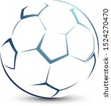 stylized football ball on a... | Shutterstock .eps vector #1524270470