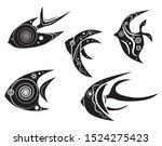 fish logo creative design.... | Shutterstock .eps vector #1524275423