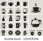 tea and coffee black icon set | Shutterstock .eps vector #152429246