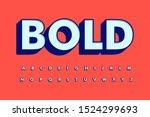 modern font 3d bold and alphabet | Shutterstock .eps vector #1524299693