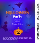 vector illustration. halloween... | Shutterstock .eps vector #1524312326