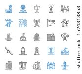 Tower Icons Set. Collection Of...