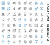solution icons set. collection... | Shutterstock .eps vector #1524314996