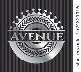 avenue silver shiny emblem .... | Shutterstock .eps vector #1524321116
