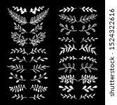 floral design elements set.... | Shutterstock .eps vector #1524322616