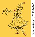 Kathak. Indian Classicla Dance...