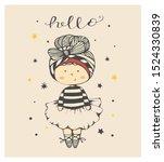 cute cartoon baby girl  ballet... | Shutterstock .eps vector #1524330839