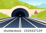 Road Tunnel Concept. Horizonta...