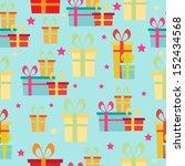 gift seamless pattern | Shutterstock .eps vector #152434568