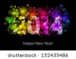 happy new year   2014 colorful... | Shutterstock . vector #152435486