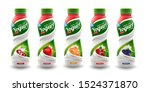 set of yougurt brand new... | Shutterstock .eps vector #1524371870