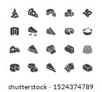 cheese flat glyph icons set.... | Shutterstock .eps vector #1524374789