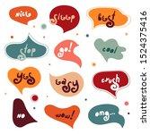 colorful simple speech bubbles... | Shutterstock .eps vector #1524375416