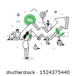 concept of investment plan... | Shutterstock .eps vector #1524375440