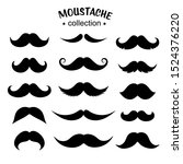 set of silhouette mustache icon.... | Shutterstock .eps vector #1524376220